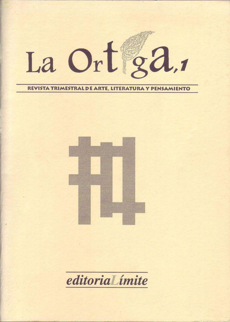Imagen Portada Revista La Ortiga Nº 1